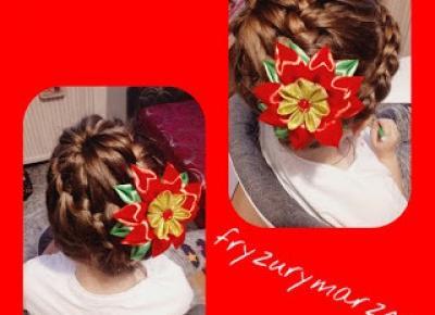 fryzurymarzeny: świąteczny kok z warkocza
