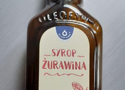 Syrop żurawinowy - na odporność i układ moczowy.