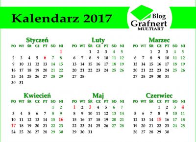 Grafnert Multiart: Kalendarz 2017