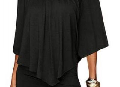Chicloth Multiple Dressing Layered Black Mini Dress