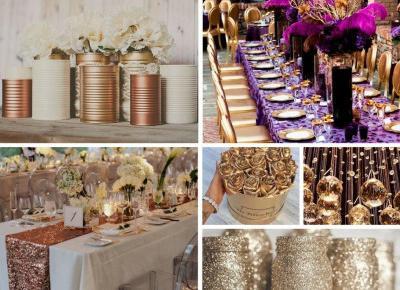 Dekoracje w kolorze złotym, srebrnym, różowym - Kolory które wybieracie!