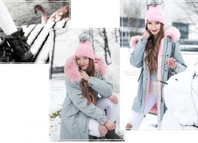 SZARA PARKA Z RÓŻOWYM FUTERKIEM | Hello Fashion | Blog o modzie i kosmetykach