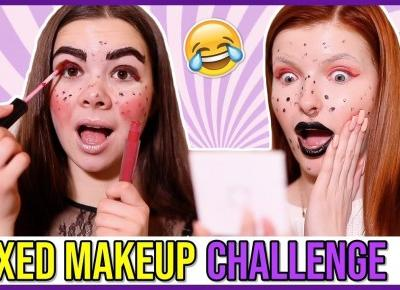 MIXED MAKEUP CHALLENGE Z KINGĄ SAWCZUK! || ANDZIA THERE