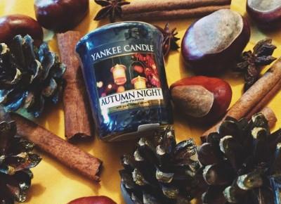 Ayuna: Recenzja ۞ : Yankee Candle Autumn Night + diy świecznik.