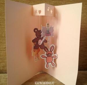 Kartka – karuzela dla dziecka