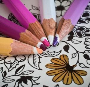 Kolorowankowy tag – Hiacynt w doniczce