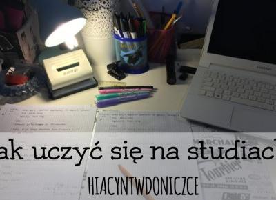 Moje sposoby/rady na naukę na studiach – Studia #3 | Hiacynt w doniczce`