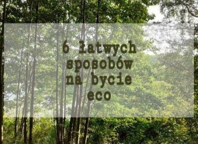 6 łatwych sposobów na bycie ECO