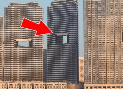 Dlaczego wieżowce w Hong Kongu mają dziwne dziury?