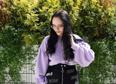 Liliowa bluza w wygodnym zestawieniu | Gdańsk 2020         |          Simply my life