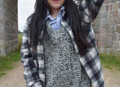 Dzianinowa kamizelka w połączeniu z koszulą oraz woskowanymi spodniami          |          Simply my life