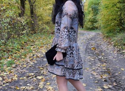 Wzorzysta sukienka jako opcja stylizacji na randkę         |          Simply my life