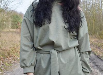 Femme Luxe - wygodna sukienka w kolorze khaki         |          Simply my life
