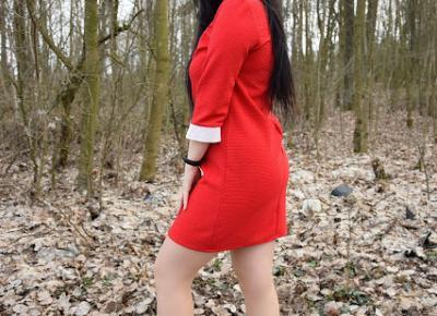 Sportowa elegancja | Czerwona sukienka | Just Look Good