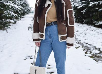 Karmelowy sweterek w zestawieniu inspirowanym stylem Vintage         |          Just Look Good