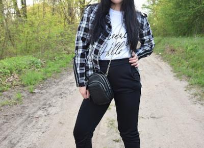 FemmeLuxe - oversizowa koszulka z napisem oraz spodnie dresowe          |          Simply my life