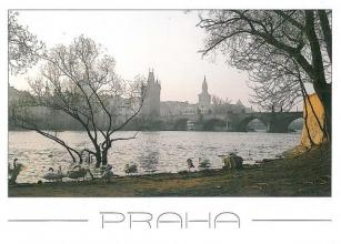 Postcrossing- pocztówki z Pragi.