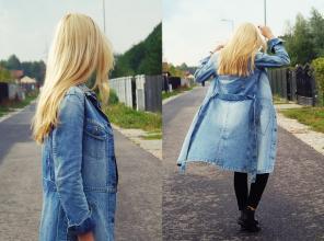 IMMHFashionBlog: Jeansowy płaszcz