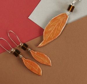 Spalona Artystka - rękodzieło: Jesienny liściasty komplet