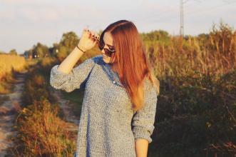 Aleksandra Kojder: Potrzebujemy zmian   Blue long sweater