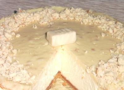 Sernik z białą polewą michałkową – Przepisy
