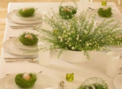wystrój wnętrz i nakrycia do stołu na Wielkanoc | JASMINEN GIRL