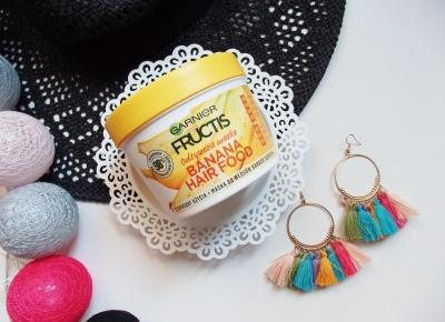 Garnier Fructis, Banana Hair Food - najlepsza maska do włosów suchych? | Jednafiga Blog
