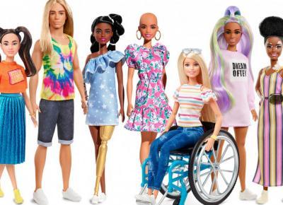 Barbie z bielactwem, złotą protezą, bez włosów, rudowłosy Ken - Mattel stawia na różnorodność
