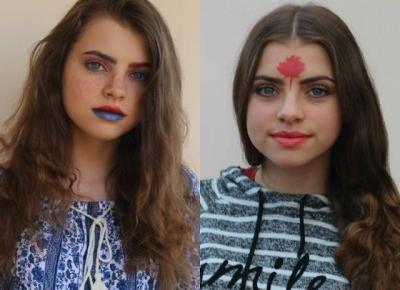 Makijaże inspirowane państwami świata #3    Asia Knebel blog