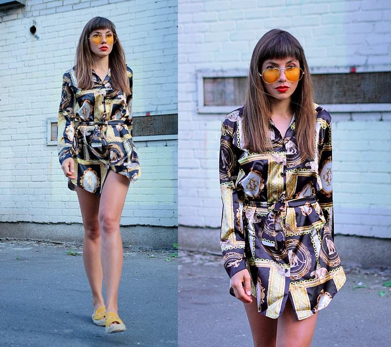 Jointy&Croissanty;: Scarf print dress