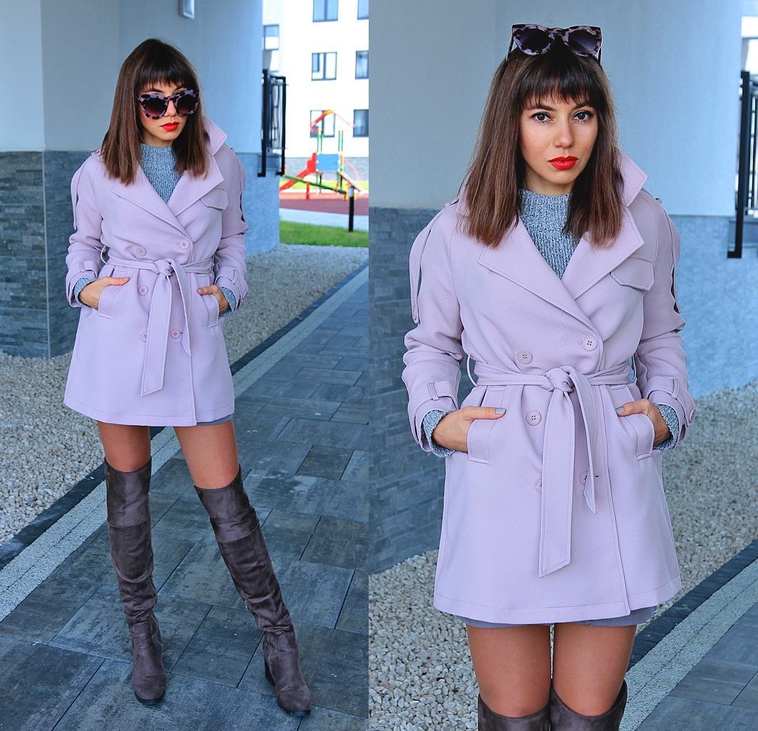 Jointy&Croissanty: pastel pink trench coat