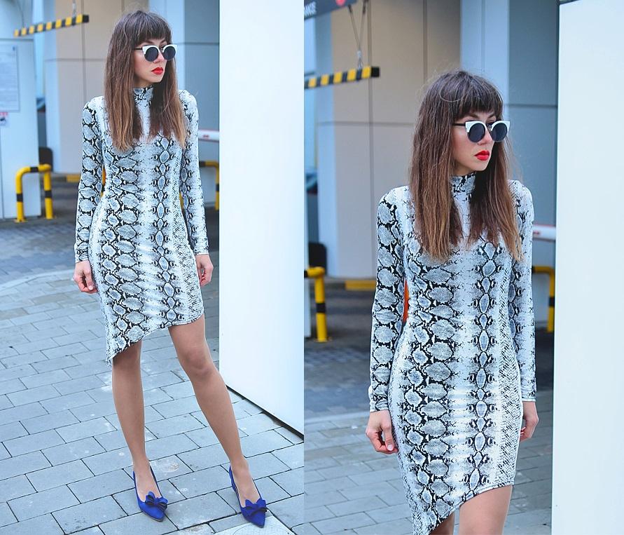 Jointy&Croissanty;: snake print dress
