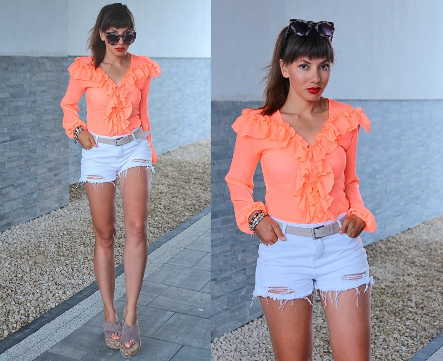 Jointy&Croissanty;: coral bodysuit