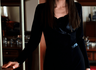 Jointy&Croissanty: midi black dress