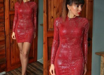 Jointy&Croissanty;: red sequin dress