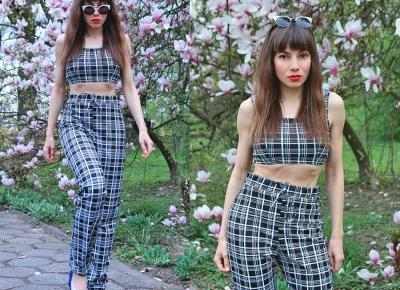Jointy&Croissanty;: plaid co-ord