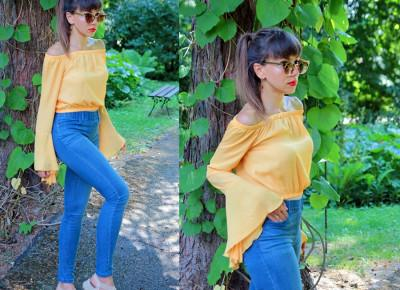 Jointy&Croissanty: denim and yellow