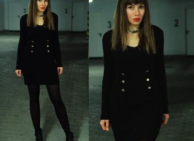 Jointy&Croissanty;: black sweater dress