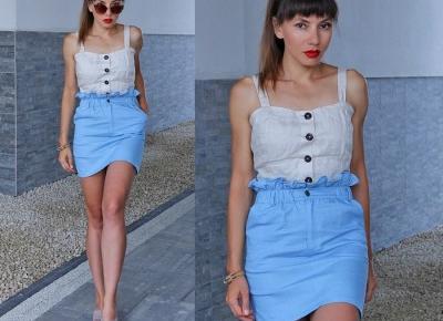Jointy&Croissanty;: blue paper bag skirt