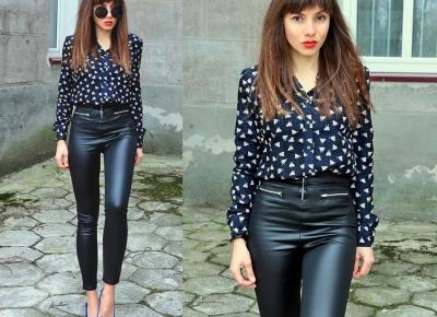 Jointy&Croissanty;: faux leather pants