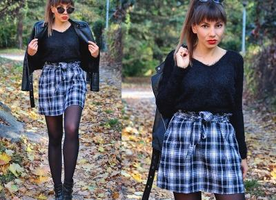 Jointy&Croissanty;: plaid paperbag skirt