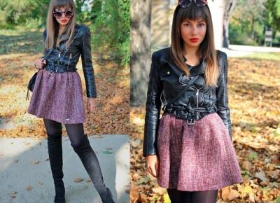 Jointy&Croissanty;: tweed skirt
