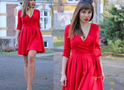 Jointy&Croissanty: perfect red flared dress