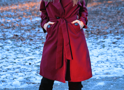 Jointy&Croissanty: burgundy trench coat
