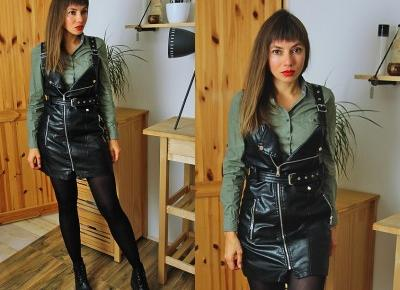Jointy&Croissanty;: leather dress