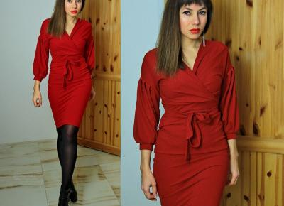 Jointy&Croissanty: red wrap dress
