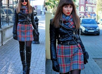 Jointy&Croissanty;: plaid wool skirt