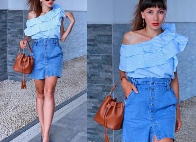 Jointy&Croissanty;: high waisted denim skirt