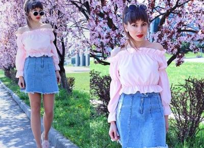 Jointy&Croissanty;: pastel pink and blue denim