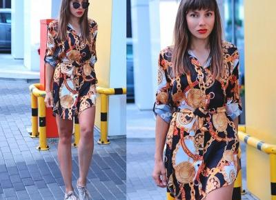 Jointy&Croissanty;: chain print dress